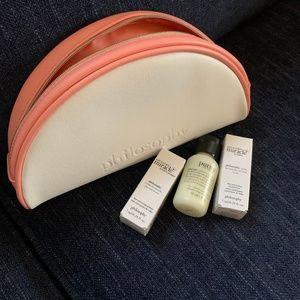 NWT Philosophy Skincare Samples + Makeup Bag